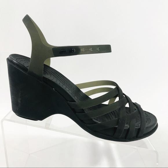914fa8b48 CROCS Shoes - Crocs Wedge Huarache Wedge Sandal Shoes Strappy